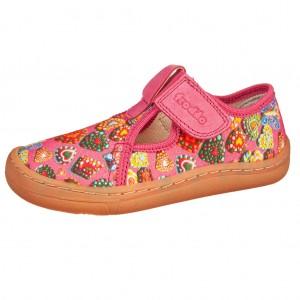 Dětská obuv Froddo Barefoot Canvas Fuchsia  *BF -  Na doma a do škol(k)y