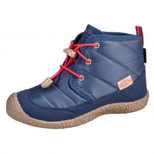 Dětská obuv KEEN Howser II Chukka WP  /blue depths/red carpet - barefoot...