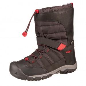 Dětská obuv KEEN Winterport neo WP   /black/red carpet - Zimní