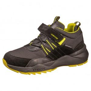 Dětská obuv GEOX J HEEVOK B   /black/fluo yellow -  Celoroční