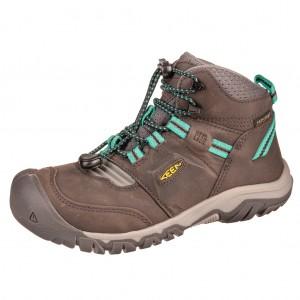 Dětská obuv KEEN Ridge flex MID WP  /magnet/greenlake -  Celoroční
